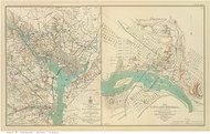 Washington DC 1895 - War Department - Old Map Reprint