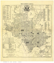 Washington DC ca1909 - Weller - Old Map Reprint