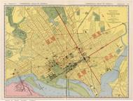 Washington DC 1924 - Rand McNally - Old Map Reprint