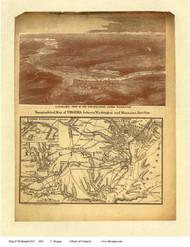 Washington DC 1861 - Magnus - Old Map Reprint