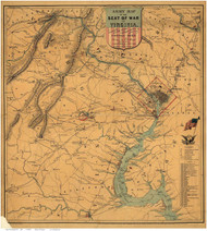 Washington DC 1862 - Bruff - Old Map Reprint