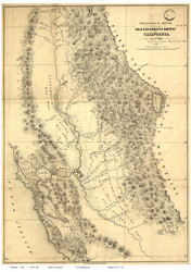 California 1848 Ord - Old State Map Reprint