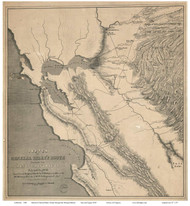 California 1849 Derby - Old State Map Reprint