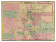 Colorado 1878 Colton - Old State Map Reprint