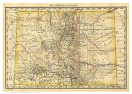Colorado 1879 Rand McNally - Old State Map Reprint
