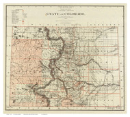 Colorado 1879 U.S. Land Office - Old State Map Reprint