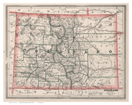Colorado 1883 Cram - Old State Map Reprint