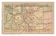 Colorado 1885 Bradstreet Co. - Old State Map Reprint