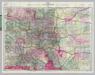Colorado 1989 Nell - Old State Map Reprint