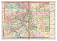 Colorado 1901 Murray - Old State Map Reprint