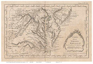 Maryland 1764 Bellin - Old State Map Reprint