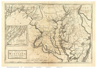 Maryland 1795 Carey & Lewis - Old State Map Reprint
