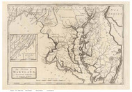 Maryland 1795 Carey - Old State Map Reprint