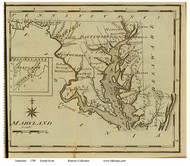 Maryland 1795 Scott - Old State Map Reprint