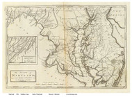 Maryland 1796 Carey - Old State Map Reprint