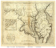 Maryland 1796 Reid - Old State Map Reprint