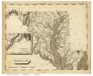 Maryland 1804 Lewis - Old State Map Reprint