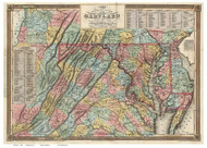 Maryland 1836 Lucas - Old State Map Reprint