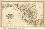 Maryland 1873 Blodget - Old State Map Reprint