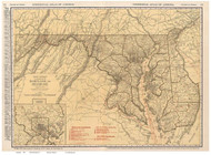 Maryland 1924 Rand McNally - Old State Map Reprint