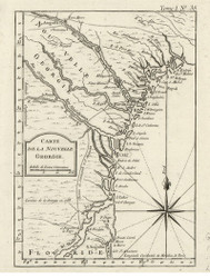 Georgia 1764 Bellin - Old State Map Reprint