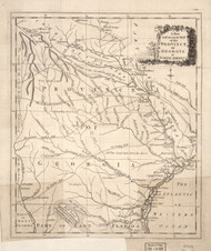 Georgia 1779 Author Unknown - Old State Map Reprint