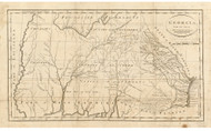 Georgia 1795 Barker - Old State Map Reprint