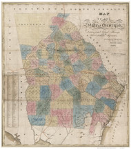Georgia 1830 Wellborn - Old State Map Reprint