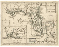 Florida 1763 Gibson - Old State Map Reprint