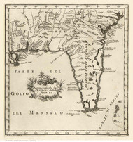 Florida 1763 Italian Text - Old State Map Reprint