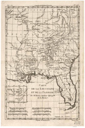 Florida 1780 Bonne - Old State Map Reprint