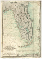 Florida 1780 French Text - Old State Map Reprint