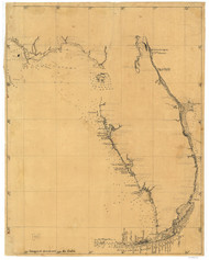 Florida 1810 Spanish Text - Old State Map Reprint