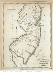 New Jersey 1794 Morse - Old State Map Reprint