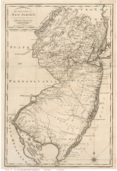 New Jersey 1795 Carey - Old State Map Reprint