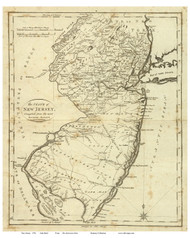 New Jersey 1796 Reid - Old State Map Reprint