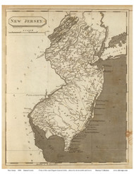New Jersey 1804 Lewis - Old State Map Reprint