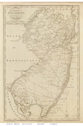 New Jersey 1811 Carey - Old State Map Reprint