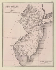 New Jersey 1812 Giberson - Old State Map Reprint