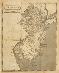 New Jersey 1812 Arrowsmith - Old State Map Reprint