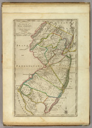 New Jersey 1814 Carey - Old State Map Reprint