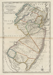 New Jersey 1818 Carey - Old State Map Reprint