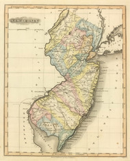 New Jersey 1822 Lucas - Old State Map Reprint