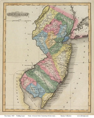 New Jersey 1823 Lucas - Old State Map Reprint