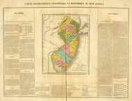 New Jersey 1825 Buchon - Old State Map Reprint
