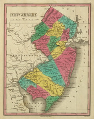 New Jersey 1831 Finley - Old State Map Reprint