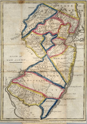 New Jersey 1831 Payne - Old State Map Reprint