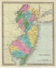 New Jersey 1835 Burr - Old State Map Reprint