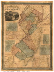 New Jersey 1836 Squire - Old State Map Reprint