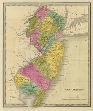 New Jersey 1840 Greenleaf - Old State Map Reprint